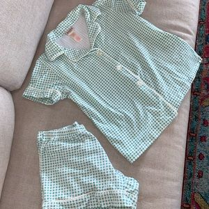 EUC adorable BedHead short sleeve, shorts pj set